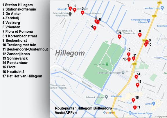 Routepunten Hillegom Bollendorp